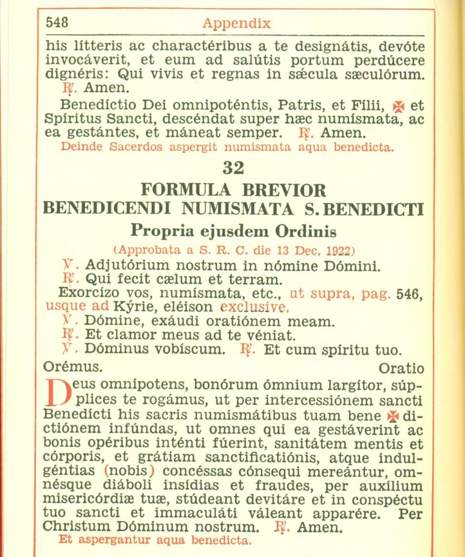 Medalik św. Benedykta koniec, krótkie