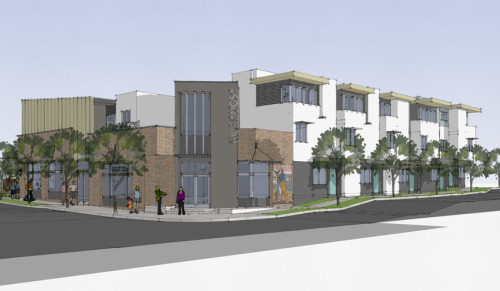Artist rendering of the condos being constructed at Voltaire and Catalina.