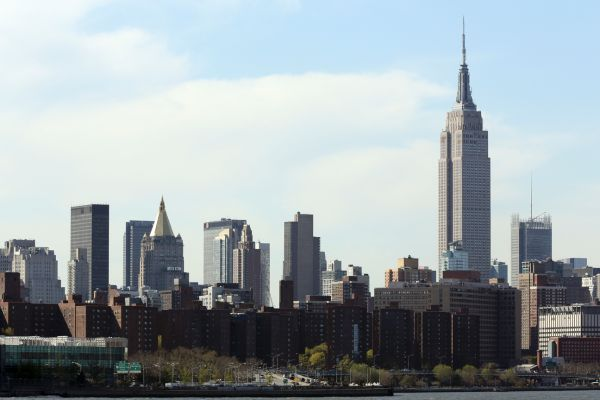 The Empire State Building is shown in Midtown Manhattan on April 30, 2013. (Credit: AP)