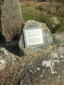 Plaque on the rocks