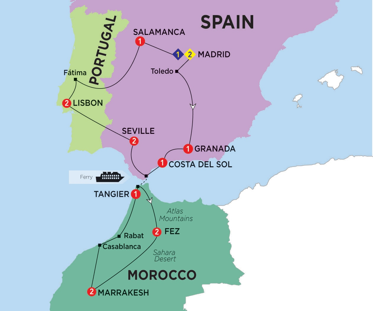 Map Of Spain Morocco And Portugal.Map Of Spain And Morocco Year Of Clean Water
