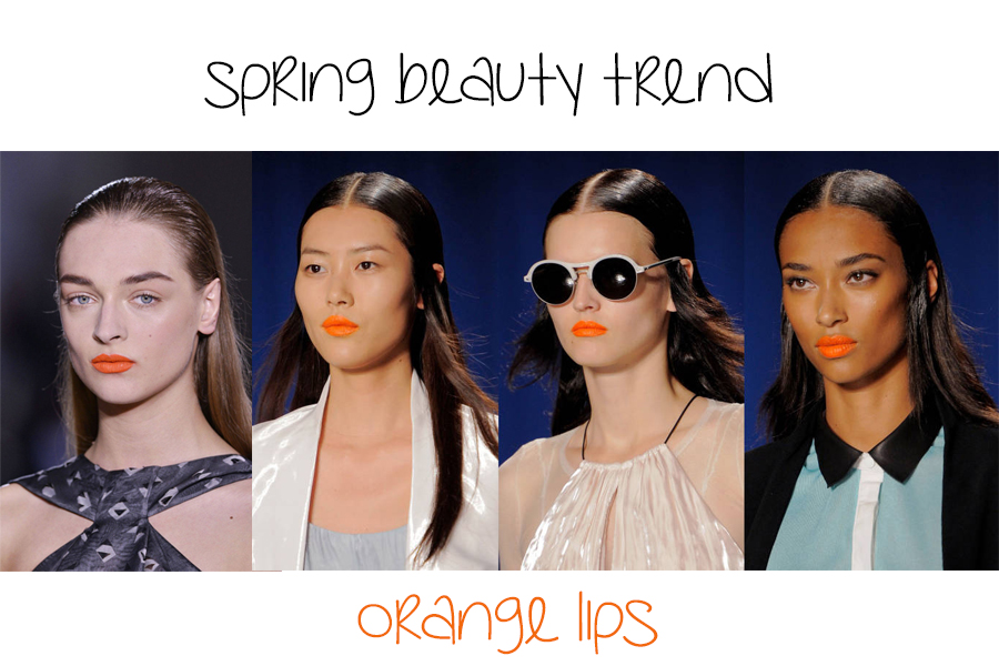 spring orange lips