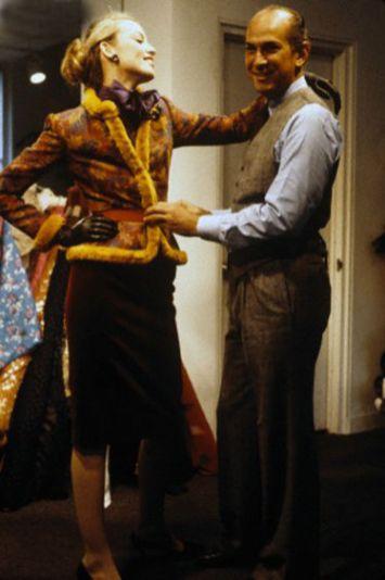 Oscar de la Renta and Jerry Hall 1979 by Dustin Pittman