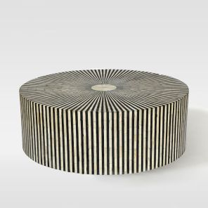 Stripe inlay coffee table