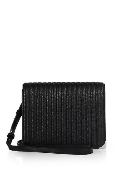 Alexander Wang Prisma Ribbed Leather Crossbody Bag