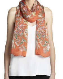 Gucci Blooms Silk Scarf