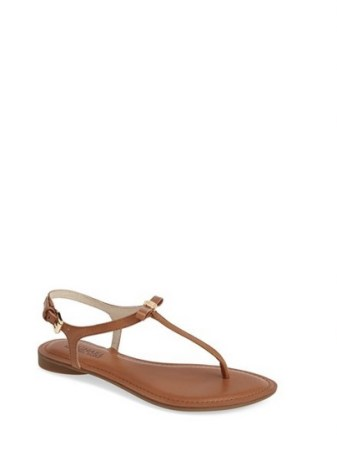 MICHAEL Michael Kors 'Josie' T-Strap Leather Sandal