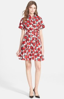 Kate Spade New York 'Stamped Dots' Shirtdress