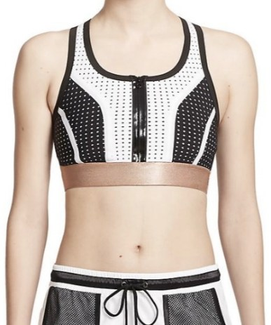 Monreal London Perforated Zip-Front Sports Bra