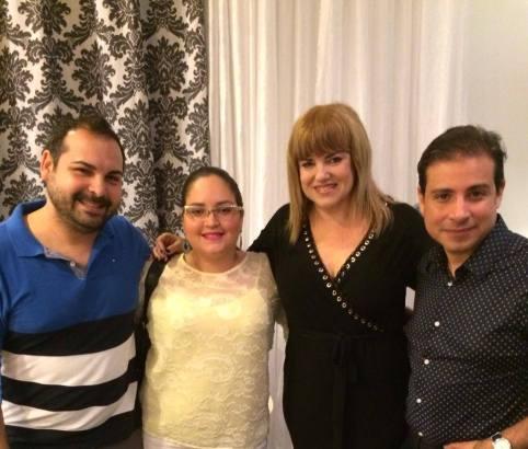 Michael Ferrer, Lourdes Nicolle Martínez, Lisa thon y Jorge Franceschi