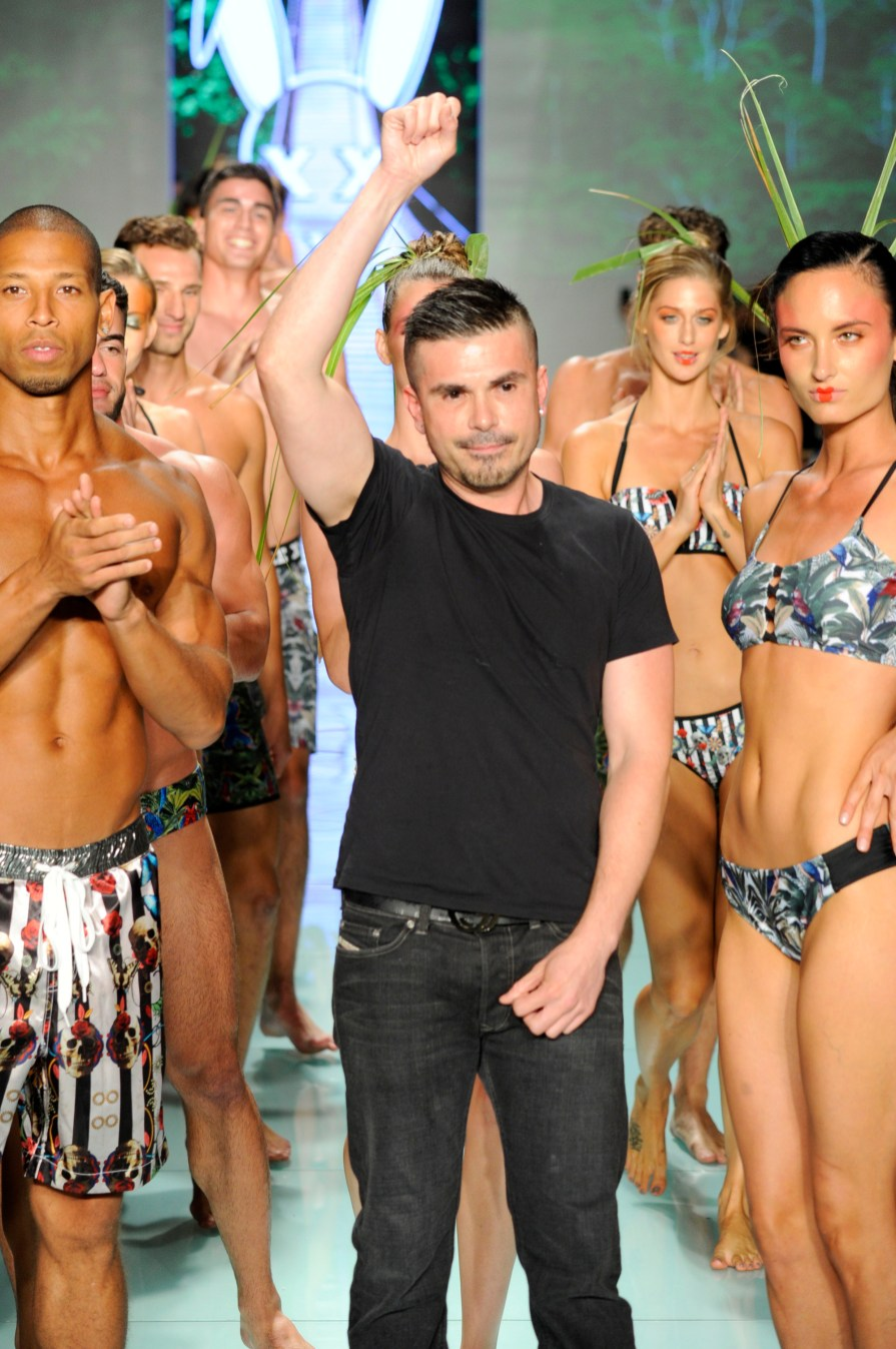 MIAMI, FL - JULY 20: Designer Erik Rosete walks the runway during Mister Triple X at Miami Swim Week Art Hearts Fashion at FUNKSHION Tent on July 20, 2017 in Miami, Florida. (Photo by Arun Nevader/Getty Images for Art Hearts)