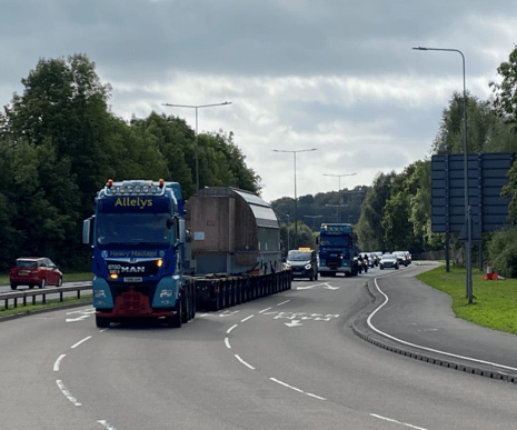Abnormal load movement on A40