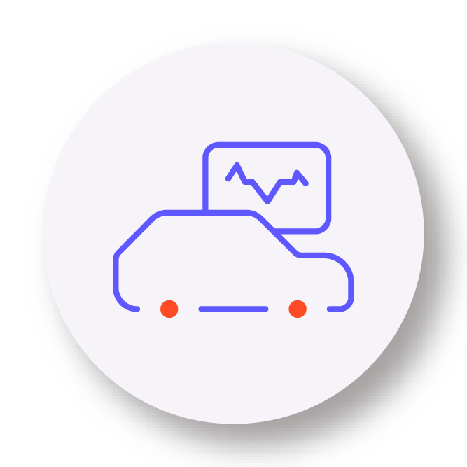 Monitoring of vehicle icon