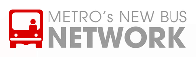 METRO's New Bus Network logo