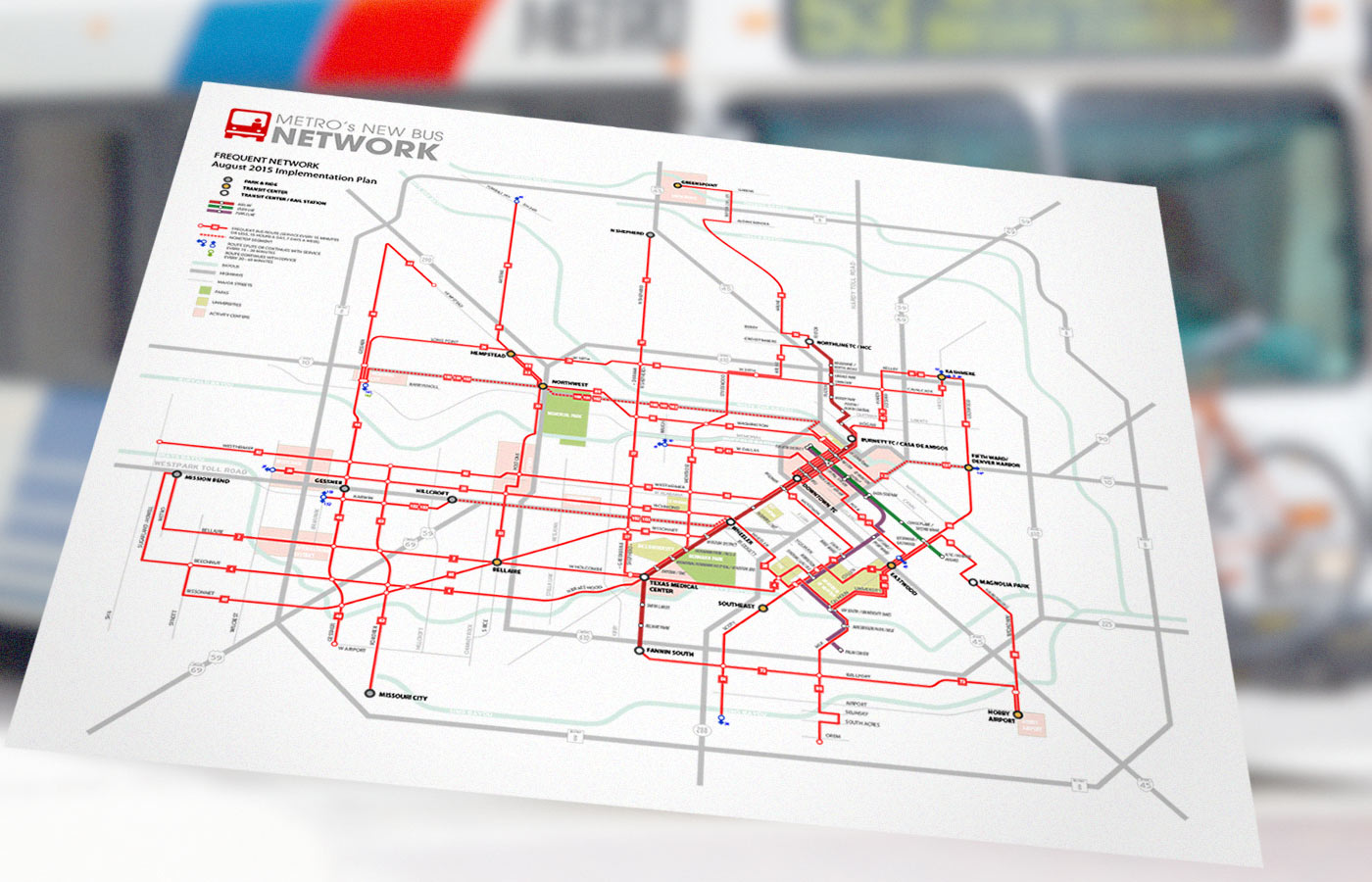 TEI Traffic Engineers Inc METROs New Bus Network System Map