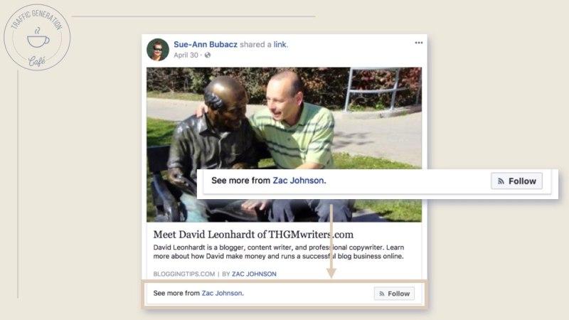 FacebookAuthor Tag Follow button