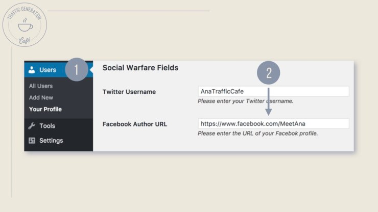 How to set up FB Author Tags with Social Warfare, step 1