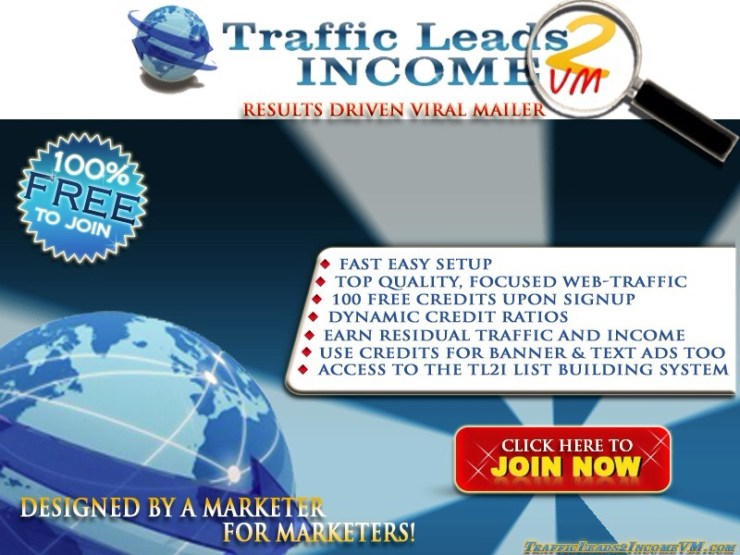TrafficLeads2Income Viral Mailer