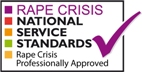 Rape Crisis National Service Standards: Rape Crisis Professionally Approved: tick logo