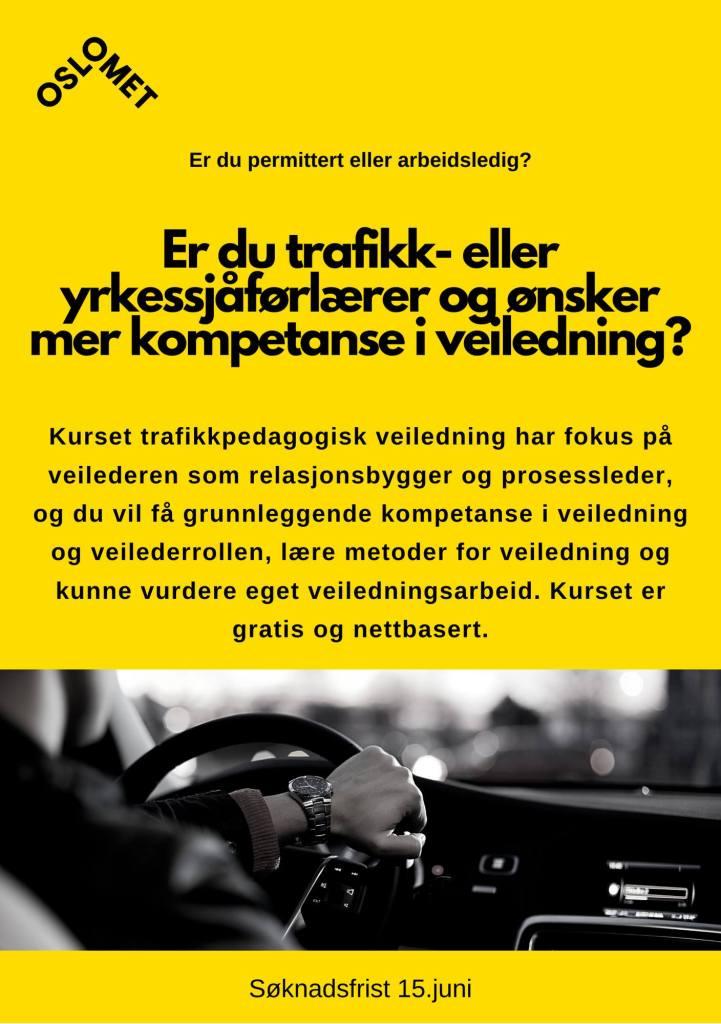 Trafikkpedagogisk veiledning på nett ved OsloMet