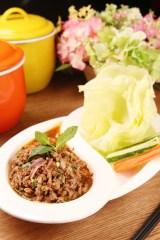 香辣生菜包鴨肉沙拉(澳門幣85元)