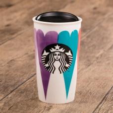 Starbucks_Watercolor Heart Double Wall Mug