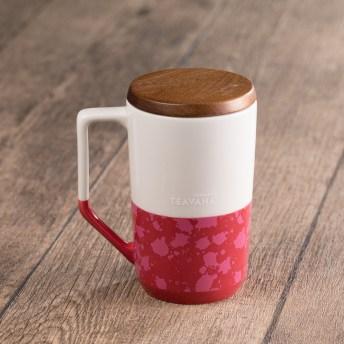12oz Two-Tone Dark Pink & White Mug