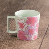 Light Mint Floral Mug