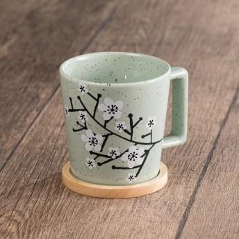 Sakura Mug with Wooden Coaster