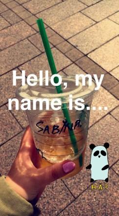 Wenn die bei Starbucks nie deinen Namen verstehen,...