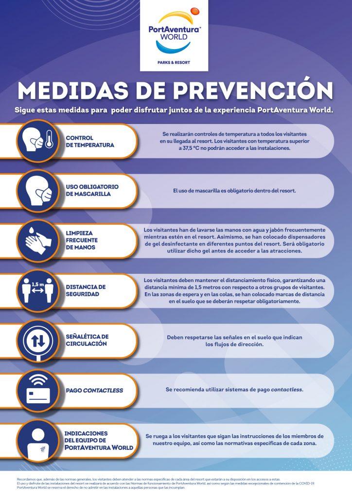 Medidas de prevención PortAventura