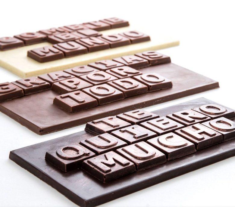 Dulces San valentín: chocolate con mensaje personalizado