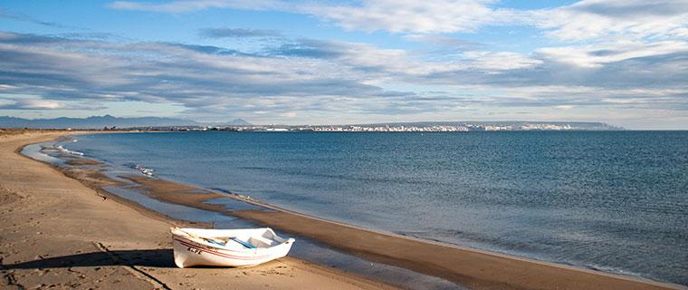 mejores playas Santa Pola: playa de La Gola