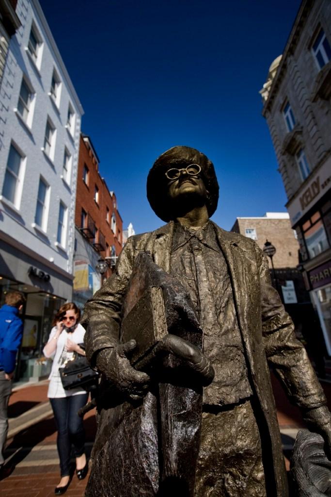 Centenario Ulises de James Joyce: estatua de James Joyce