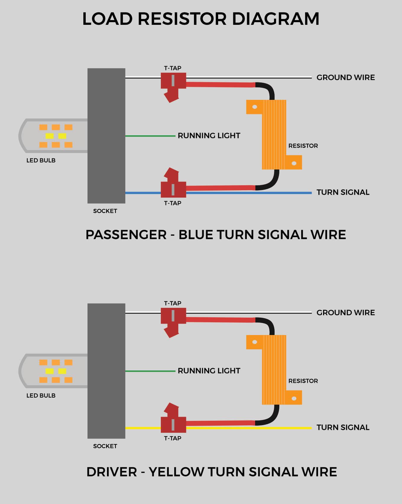 hight resolution of load resistors diagram for front turn signals on 5th gen 4runner