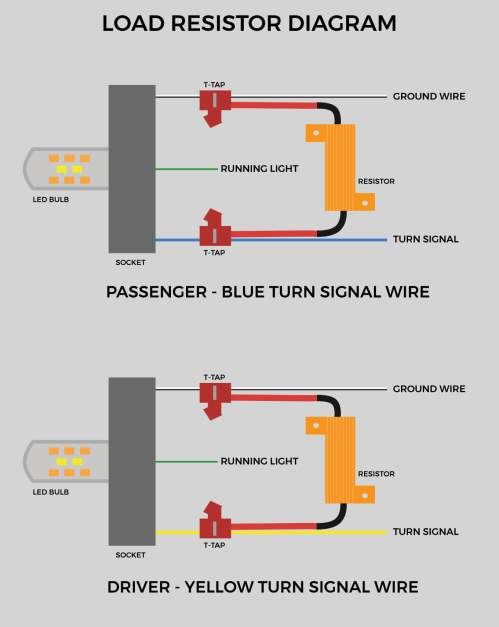 small resolution of load resistors diagram for front turn signals on 5th gen 4runner