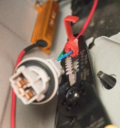 step 7 splice turn signal wire with load resistor wire [ 1200 x 800 Pixel ]