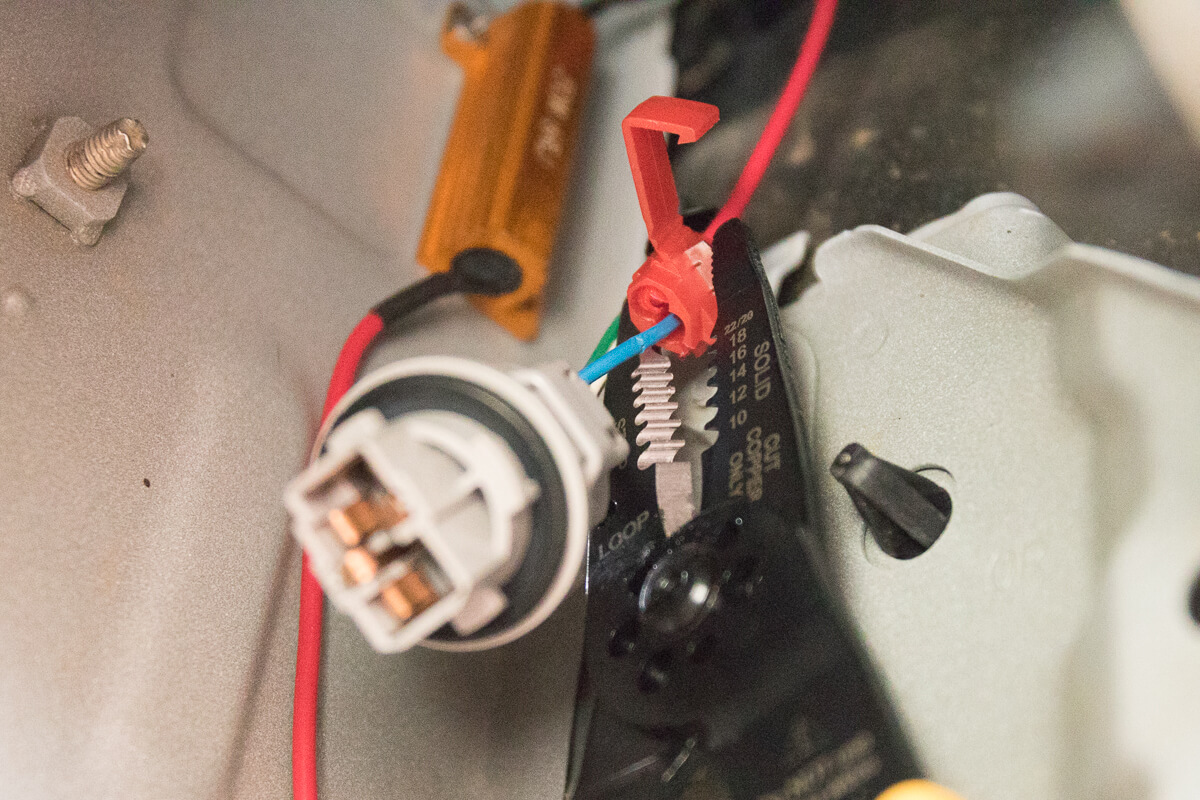 hight resolution of step 7 splice turn signal wire with load resistor wire