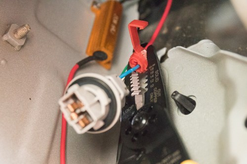 small resolution of step 7 splice turn signal wire with load resistor wire