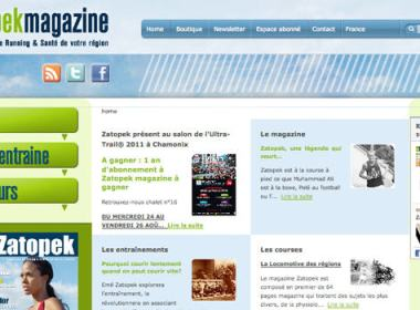 Le site du magazine Zatopek est enfin ligne: www.zatopekmagazine.com