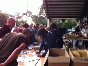 Marathon des villages 2011: retrait des dossards