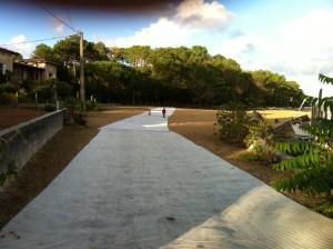 Marathon des Villages: le tapis de plage