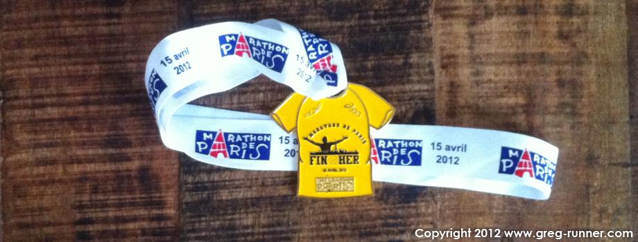 Bilan et analyse de mon marathon de Paris 2012