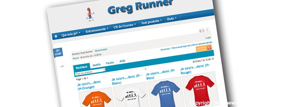 Boutique Greg Runner: le T-shirt du mois