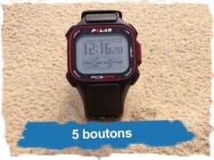 Polar RC3 GPS: 5 boutons