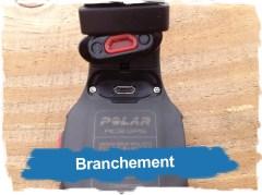 Polar RC3 GPS : branchement