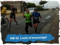 KM 32: Lucie m'encourage!