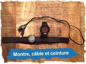 Suunto Ambit: la montre, le câble et la ceinture cardio