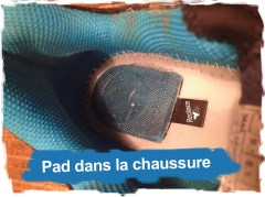 Running Raidlight Team R Light 001: le pad dans la chaussure