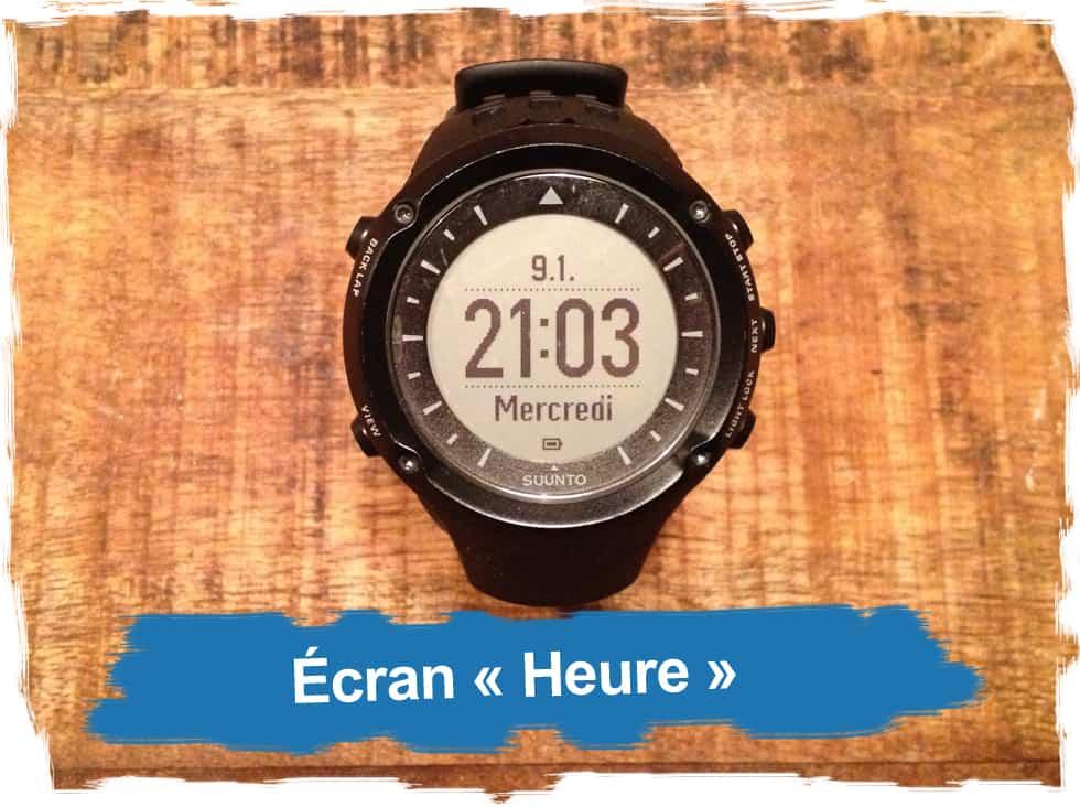 """Ecran """"heure"""""""